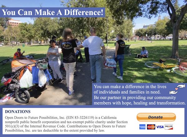 Open Doors team helping the community